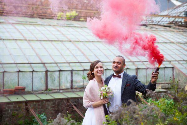 Delphine & Christophe - Mariage dans une serre botanique au domaine de Verderonne